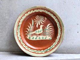 トナラ 陶器  丸皿  [プレート 水鳥 その4 30cm]  ビンテージ