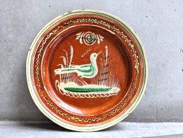 トナラ 陶器  丸皿  [プレート 水鳥 その5 30cm]  ビンテージ
