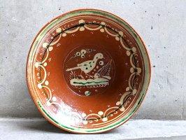 トナラ 陶器  大鉢  [ボウル 水鳥 23×7cm]  ビンテージ