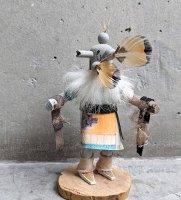 ナバホ アリゾナ カチナドール  [グレイフェザー 13cm] スーベニール