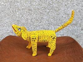 オアハカ ウッドカービング 木彫人形 サンチアゴ  [上向き犬 19cm]