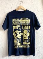 ルチャリブレ マスクマン Tシャツ [ウラカン・ラミレスvsエスパント /ネイビー]M,Lサイズ