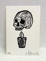 Cesar Chavez セサル・チャベス Sin Titulo(calavera)/ No Title(The skull)/「無題(ガイコツと蝋燭)」<img class='new_mark_img2' src='https://img.shop-pro.jp/img/new/icons13.gif' style='border:none;display:inline;margin:0px;padding:0px;width:auto;' />