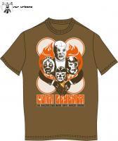 ルチャリブレ Tシャツ マスクマン [レジェンド4 M~XL]ブラウン