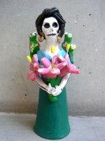 ガイコツ女性 陶器のカラベラ [フリーダ] アギラール