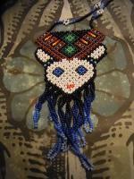 ウィチョール族のビーズネックレス [ベナード] アクセサリー 民芸品