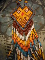 ウィチョール族のビーズネックレス [コヨーテ] アクセサリー 民芸品