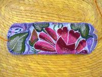 チアパス 刺繍 リストバンド [ブルー&マルチ] マヤ