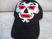 ルチャリブレ マスクマン キャップ 帽子 [ドスカラス] ブラック&シルバー