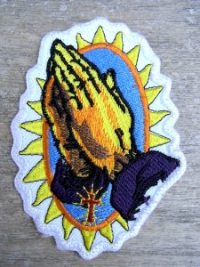 ワッペン アイロン 刺繍 メキシコ [マノ] グアダルーペ 教会