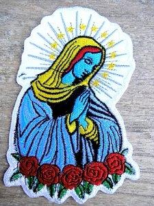 ワッペン アイロン 刺繍 メキシコ [グアダルーペ] チカーノ