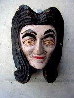 ウッドマスク 木製の仮面 民芸品 [女性] ゲレーロ