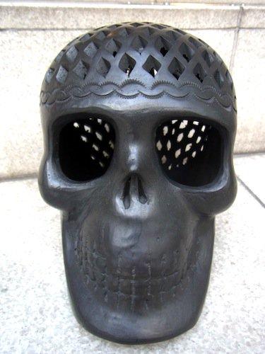 カラベラ がいこつ 陶器 [バロネグロ] 民芸品 オアハカ