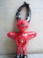 メキシコ  ルピータ ディアブロ  [レッド] 張り子人形