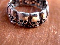 リング 指輪  [ラス・カラベラス ユニセックス] シルバー スカル がいこつ