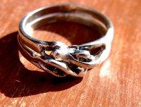 リング 指輪  [カップル ダブル ペア] シルバー