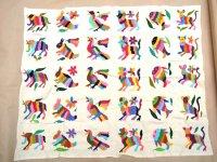 メキシコ オトミ 刺繍 アニマル  ビッグサイズ [30マス] 民芸品