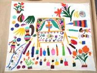 メキシコ オトミ 刺繍 アニマル  ビッグサイズ [祭壇 死者の日] 民芸品