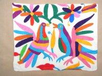 メキシコ オトミ 刺繍 クッションカバー  [バーズ] ハンドメイド