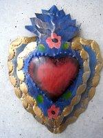 コラソン ブリキ オーナメント ビンテージ  [ブルー] 壁飾り