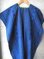 ウイピル グアテマラ 刺繍 民族衣装 ポンチョ [ブルー トドス・サントス]