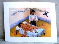 フリーダ・カーロ ピクチャー カード [ちょっとした刺し傷] インテリア