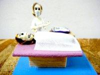 がいこつ ミニドール 石膏人形 [ナシミエント 出産]