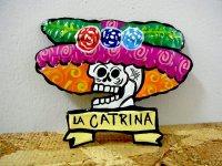 カトリーナ がいこつブリキマグネット