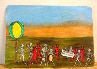 ボノラ アート エクスボト[亡者の行進] 壁飾り
