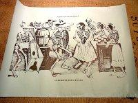 カラベラ ポサダ 版画 ポスター[お祭り] 死者の日