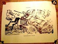 カラベラ ポサダ 版画 ポスター[ドン・キホーテ] 死者の日