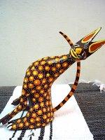 アレブリヘス 木彫り 民芸品 [キツネ] オアハカ ティルカヘテ