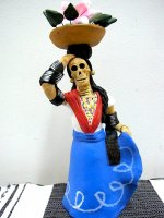 アギラール 陶器人形 [がいこつインディヘナ] 民芸 フォークアート