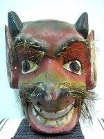 ウッドマスク 木製の仮面 民芸品 [髭のディアブロ] ゲレーロ