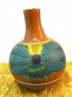メキシコ 民芸品 陶器 壷 ハンドメイド ペイント ビンテージ