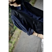 ZIP LONG WEST COAT/BLACK