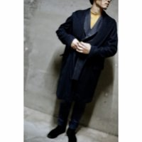 FOODY SHAWL COLLAR COAT/NAVY