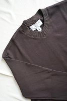 V-NECK UTILITY LS / BROWN
