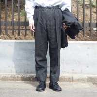 JAPAN BLACK 2TUCK PANTS