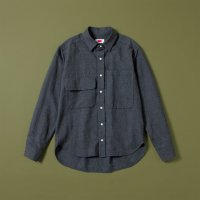 <img class='new_mark_img1' src='https://img.shop-pro.jp/img/new/icons5.gif' style='border:none;display:inline;margin:0px;padding:0px;width:auto;' />DOUBLE POCKET SHIRT | GREY