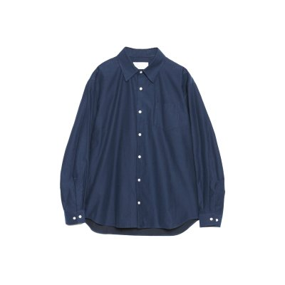 SMOOTH TWILL COTTON THE SHIRT / NAVY