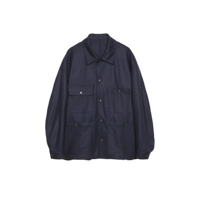 <img class='new_mark_img1' src='https://img.shop-pro.jp/img/new/icons5.gif' style='border:none;display:inline;margin:0px;padding:0px;width:auto;' />SUPER110's SUPER FINE WOOL CPO SHIRT / NAVY