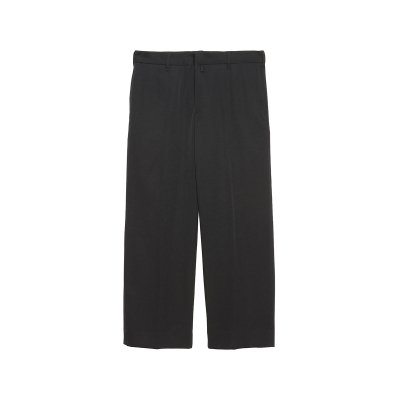 WOOL GABADINE STRAIGHT TROUSERS