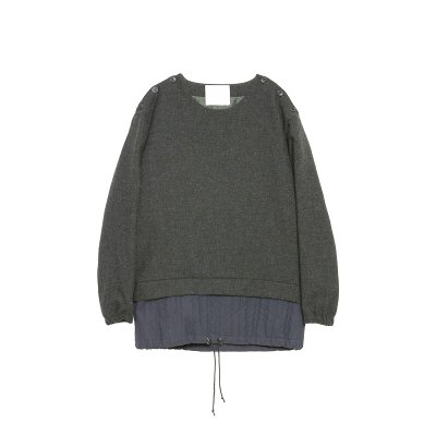 <img class='new_mark_img1' src='https://img.shop-pro.jp/img/new/icons5.gif' style='border:none;display:inline;margin:0px;padding:0px;width:auto;' />MOON SHETLAND WOOL LAYERED PULLOVER / GREEN