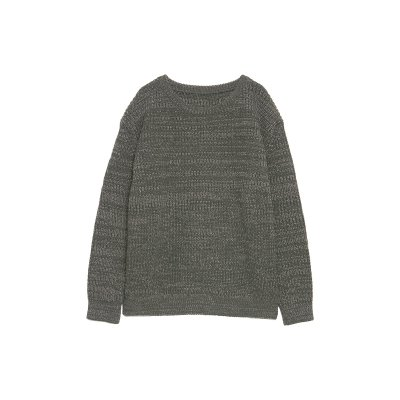 EXTRA FINE LAMB WOOL SPRINKLED KNIT / GREEN