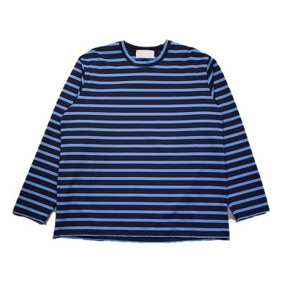 BORDER LONG SLEEVE TEE / NAVY