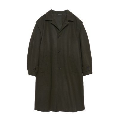 SUPER120's WOOL LOWDEN COAT / GREEN