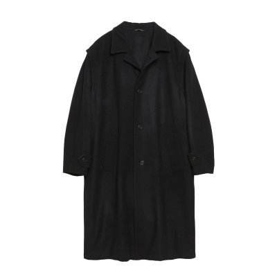 SUPER120's WOOL LOWDEN COAT / BLACK