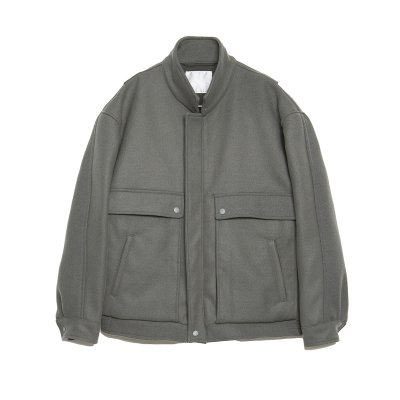 PROOF ARMOR WOOL ZIP BLOUSON / GREY