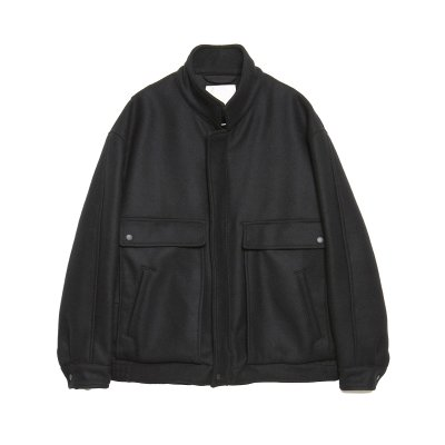 PROOF ARMOR WOOL ZIP BLOUSON / BLACK